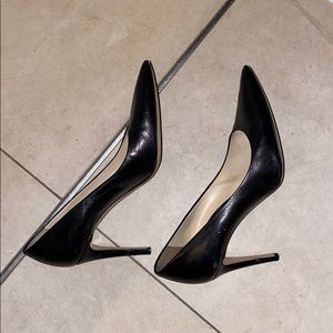 M. Gemi Cammeo black genuine leather stilettos